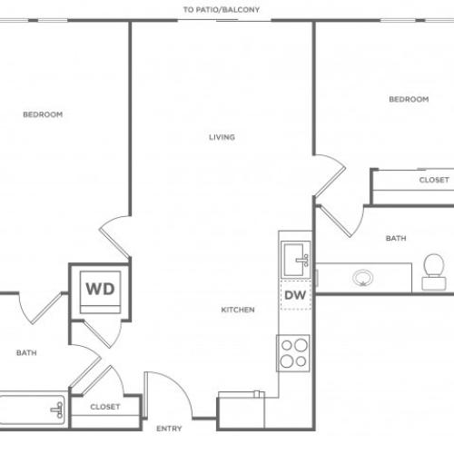 2c | 2 bed 2 bath | from 990 square feet