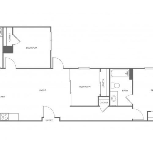 3a | 3 bed 2 bath | from 1075 square feet