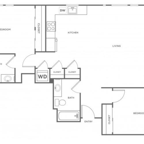 2f | 2 bed 2 bath | from 1197 square feet