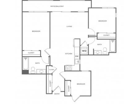 3b | 3 bed 2 bath | from 1070 square feet