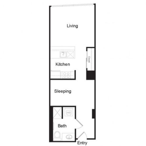 Studio C | Studio1 bath | from 546 square feet