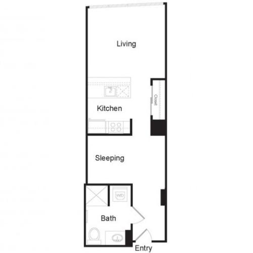 Studio D | Studio1 bath | from 555 square feet