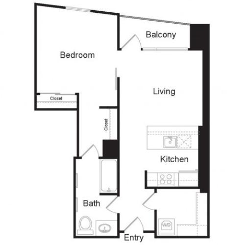 A2 | 1 bed 1 bath | from 747 square feet