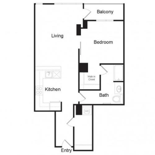 A7 | 1 bed 1 bath | from 908 square feet