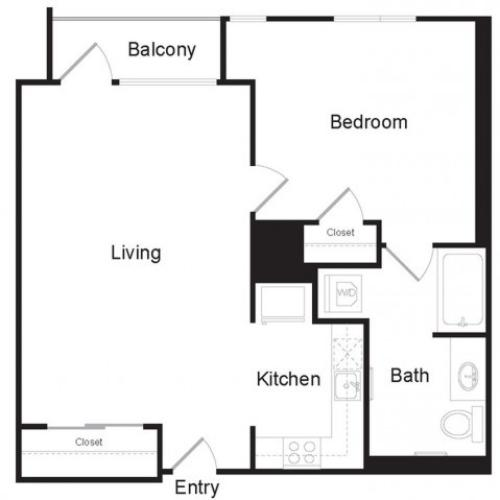 J1 | 1 bed 1 bath | from 680 square feet