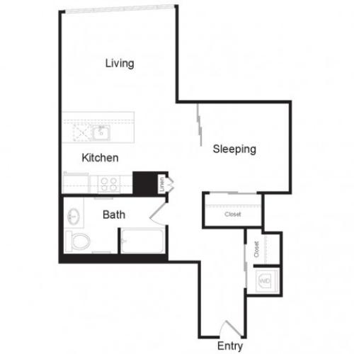 JR1 D | 1 bed 1 bath | from 698 square feet