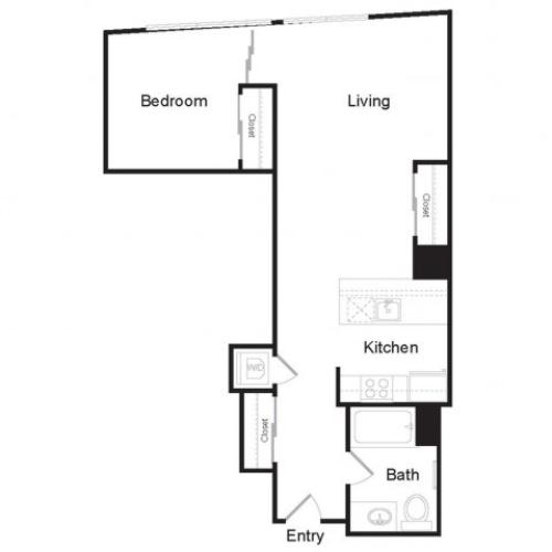 JR1 F | 1 bed 1 bath | from 714 square feet