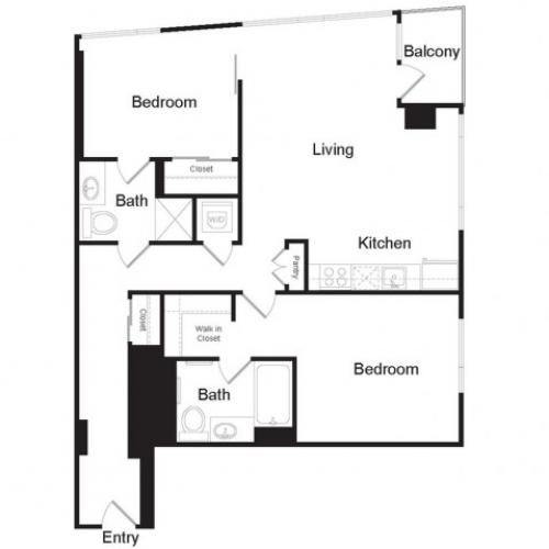 B2 | 2 bed 2 bath | from 1114 square feet