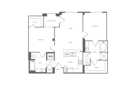 B1 | 2 bed 2 bath | from 1077 square feet