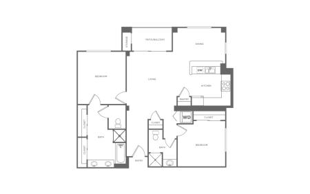 B2 | 2 bed 2 bath | from 1198 square feet
