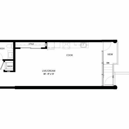 1GG | Studio1 bath | from 690 square feet
