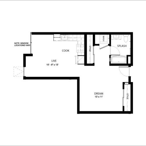 1D | Studio1 bath | from 635 square feet