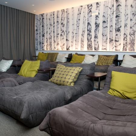 Movie Room with Plush Seating