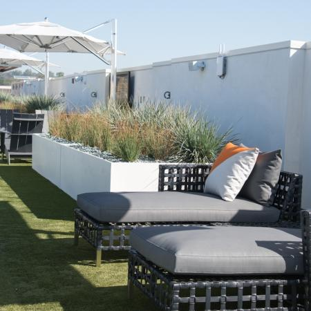 Rooftop Deck + Lounge Chairs/Umbrellas