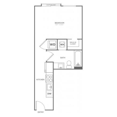 S1 | Studio1 bath | from 401 square feet