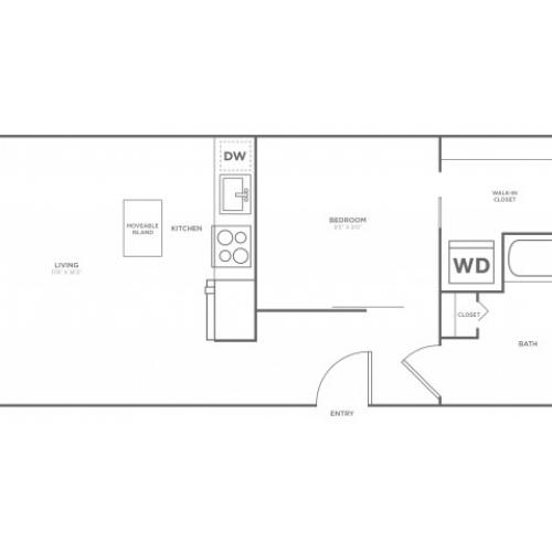 A4 | 1 bed 1 bath | from 536 square feet
