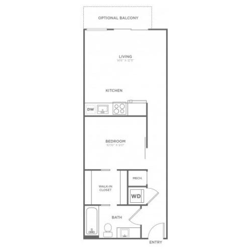 A8 | 1 bed 1 bath | from 591 square feet