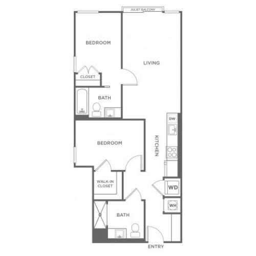 B1 | 2 bed 2 bath | from 878 square feet
