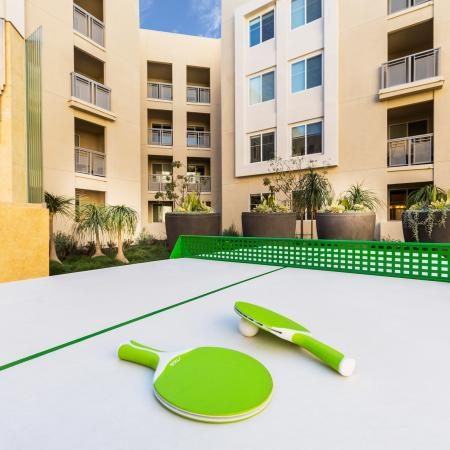 Outdoor Lounge Area + Ping Pong Table