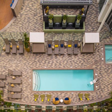 Pool Outdoor Ariel View, Daytime