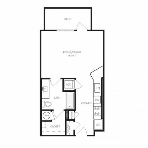 S1 | Studio1 bath | from 535 square feet