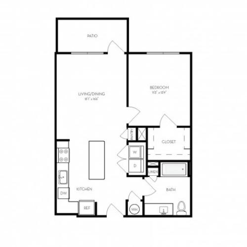 A6 | 1 bed 1 bath | from 745 square feet