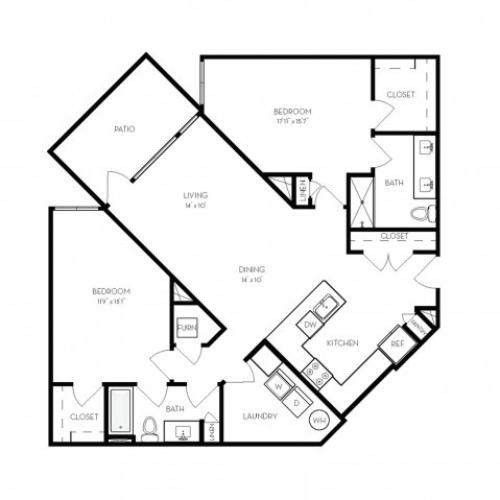 B3 | 2 bed 2 bath | from 1333 square feet