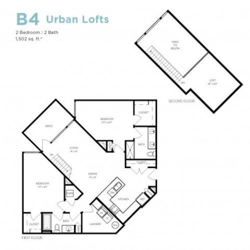 B4 | 2 bed 2 bath | from 1497 square feet