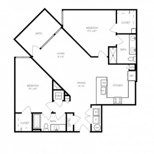 B7 | 2 bed 2 bath | from 1306 square feet