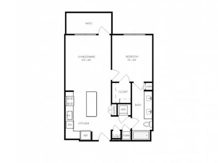 A4   1 bed 1 bath   from 745 square feet