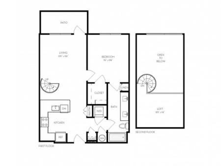 A5   1 bed 1 bath   from 870 square feet