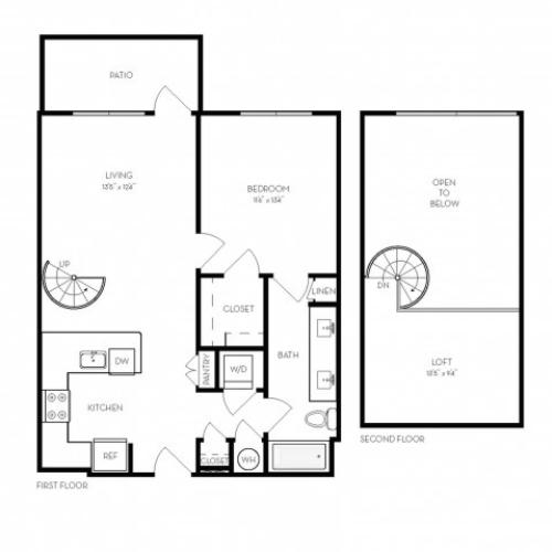 A5 | 1 bed 1 bath | from 870 square feet