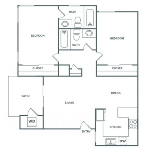 B2GR | 2 bed 2 bath | from 835 square feet