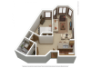 A1 | 1 bed 1 bath | from 789 square feet