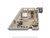 A6 | 1 bed 1 bath | from 931 square feet