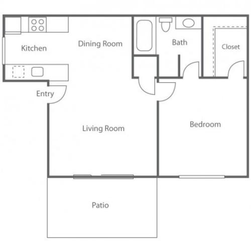 1 BD/1BA | 1 bed 1 bath | from 612 square feet