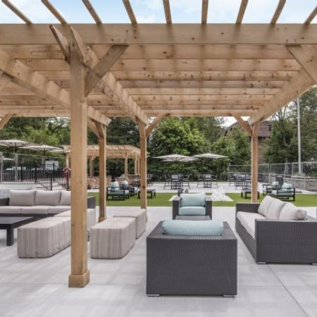 Cover seating outdoors
