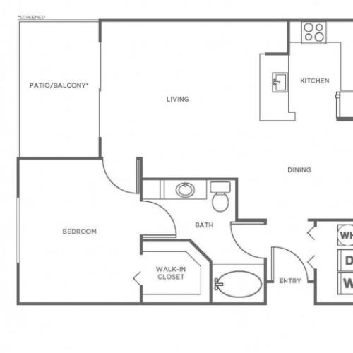 A1 | 1 bed 1 bath | from 816 square feet