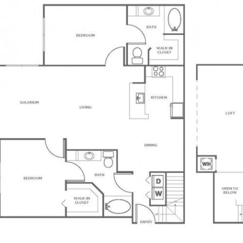 B6 | 2 bed 2 bath | from 1464 square feet