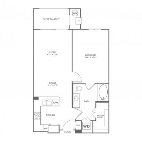 Infinity | 1 bed 1 bath | from 696 square feet