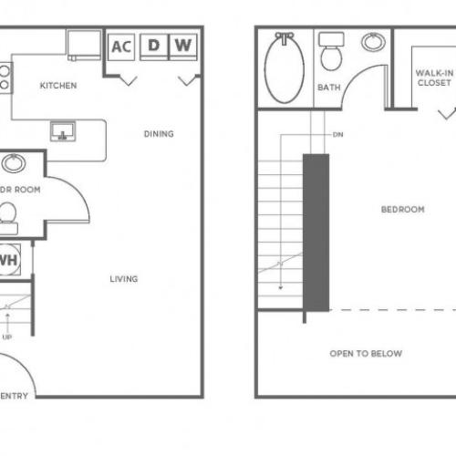A5GIG | 1 bed 2 bath | from 839 square feet