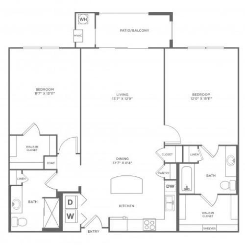 Passivity | 2 bed 2 bath | from 1184 square feet