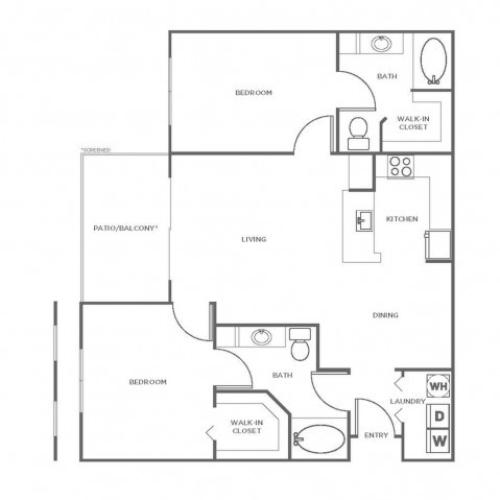 B3GIG | 2 bed 2 bath | from 1107 square feet