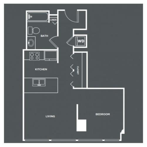 S3-R | Studio1 bath | from 614 square feet