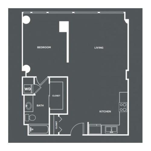 A11 | 1 bed 1 bath | from 799 square feet