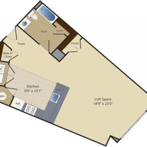Studio 3 | Studio1 bath | from 771 square feet