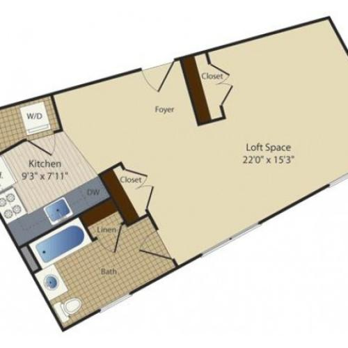Studio 5 | Studio1 bath | from 562 square feet