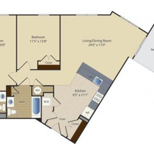 2 Bed B7 | 2 bed 2 bath | from 1101 square feet