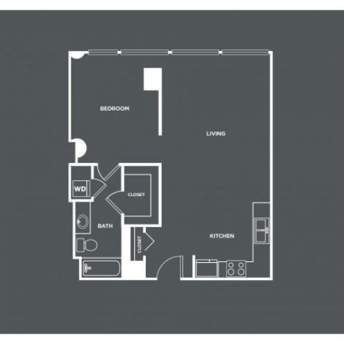 A13 | 1 bed 1 bath | from 794 square feet