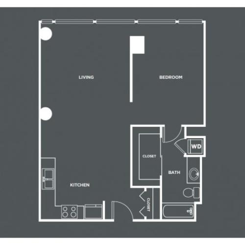 A14-R | 1 bed 1 bath | from 819 square feet